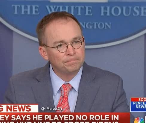 Watch and share Mick Mulvaney Reaction GIFs by MarcusD on Gfycat