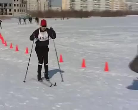 Watch and share Cross-Country Skiing Fail GIFs on Gfycat