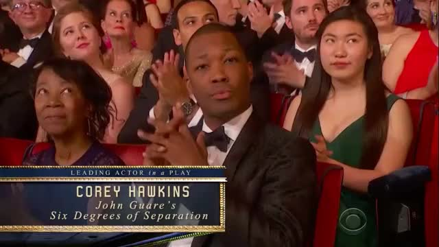 Watch Corey Hawkins Tony Awards 2017 Gif By Gif Reactions Visualecho On Gfycat