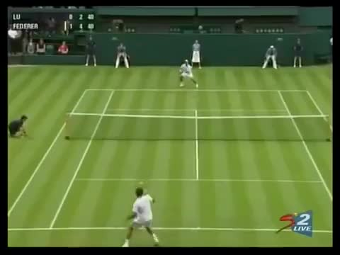 Watch Federer Lu Wimbledon GIF on Gfycat. Discover more related GIFs on Gfycat