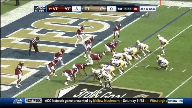 Watch and share NCAAF 2017 Week 10 #17 Virginia Tech At Georgia Tech GIFs on Gfycat