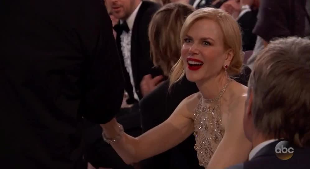 nicole kidman, oscars, oscars2017, Nicole Kidman is just as surprised - Oscars 2017 GIFs