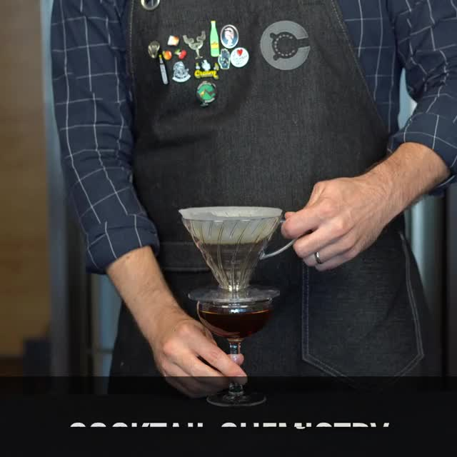 Watch and share Pour Over Manhattan GIFs and Cocktail Chemistry GIFs by Cocktail Chemistry on Gfycat