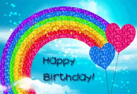 Watch and share Gltr Rainbow HBD GIFs on Gfycat