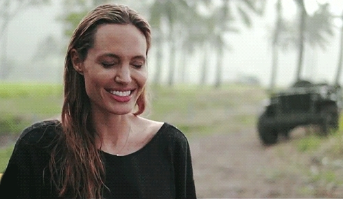 actress, angelina jolie, beautiful, celebs, i love her, interview, laugh, so much, spontaneity, Angelina Jolie Fan GIFs
