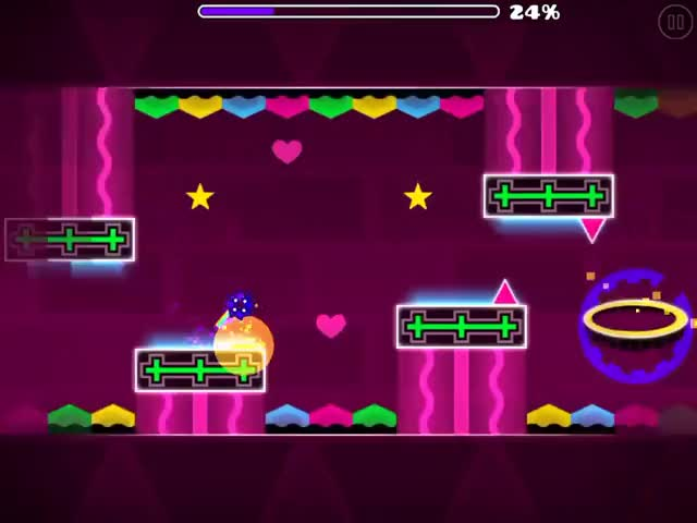 Watch and share Geometry Dash | (Valentines Special) Valentine Rush GIFs on Gfycat