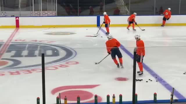 hockey, [x-post r/edmontonoilers] McDavid skating on Rogers Place ice GIFs
