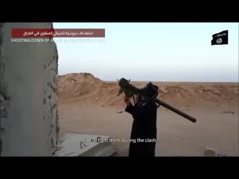 MissileGfys, missilegfys, New videwo shows ISIS using Stinger to shoot down MI-28 attack helicopter near baji refinery in Iraq (reddit) GIFs