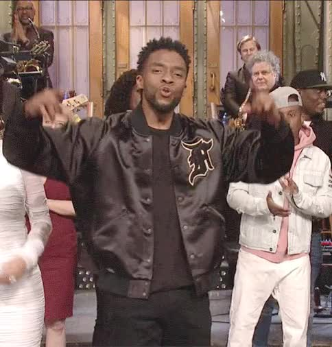 Watch and share Saturday Night Live GIFs and Chadwick Boseman GIFs on Gfycat