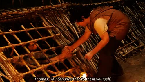 Watch THE MAZE RUNNER GIF on Gfycat. Discover more 500, I WANT TO CRY AGAIN, also this probably makes no sense to people who haven't watched it yet, blake cooper, bts, but i love it so, dylan o'brien, mine, mine3, mine4, oH GOD THIS WAS ONE OF MY FAVORITE SCENES, the maze runner, tmr*, tmrchuck, tmredit, tmrmoviegifs, tmrthomas GIFs on Gfycat