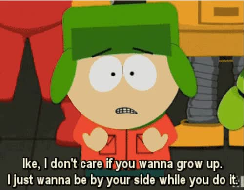 Watch and share South Park Real Grow Up animated stickers on Gfycat