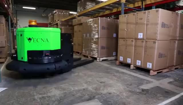 Watch and share Vecna Robotics' RL3600-DO Autonomous Pallet Truck GIFs on Gfycat
