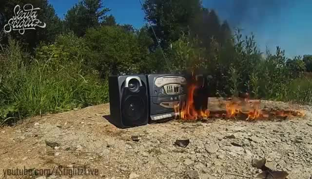 Watch Tape Recorder IN FIRE / Burning in Time Lapse GIF on Gfycat. Discover more related GIFs on Gfycat