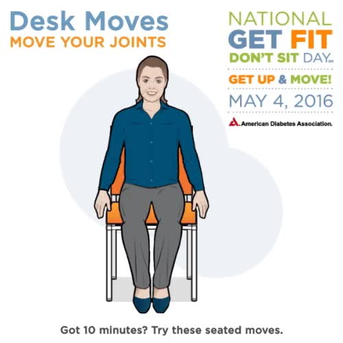Watch and share Desk Moves: Move Your Joints GIFs on Gfycat