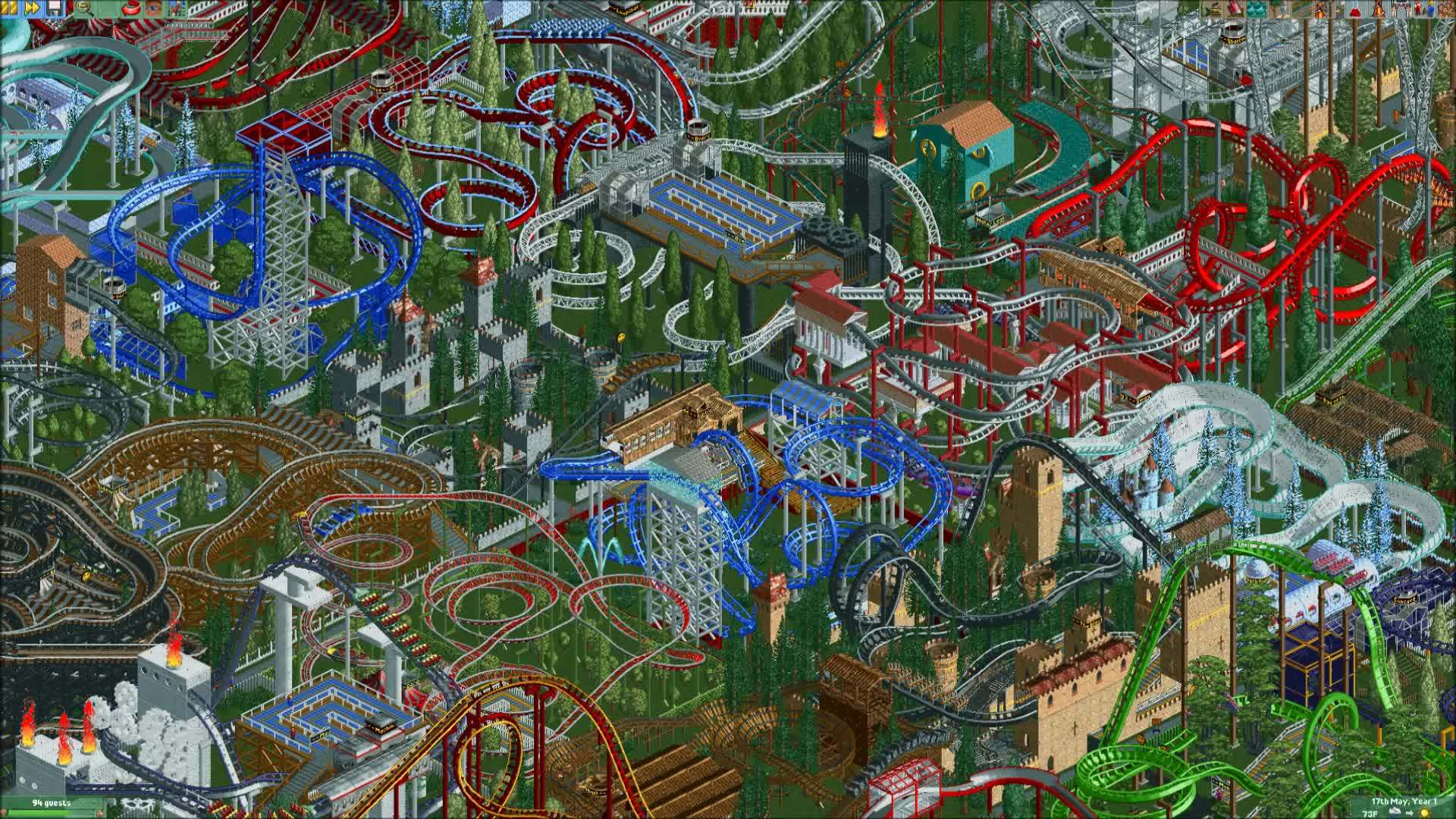 ▷ Roller Coaster Tycoon 2 Genocide GIF by kittyhat - Find