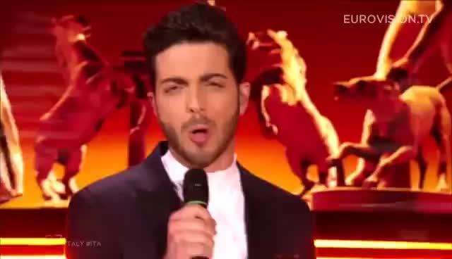 grande amore, il volo, eurovision italy GIFs
