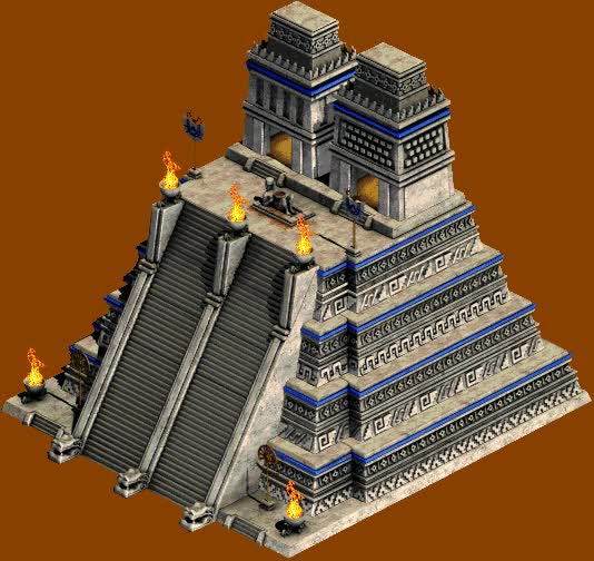I added some flames to few of the Meso civ buildings. : aoe2 GIFs