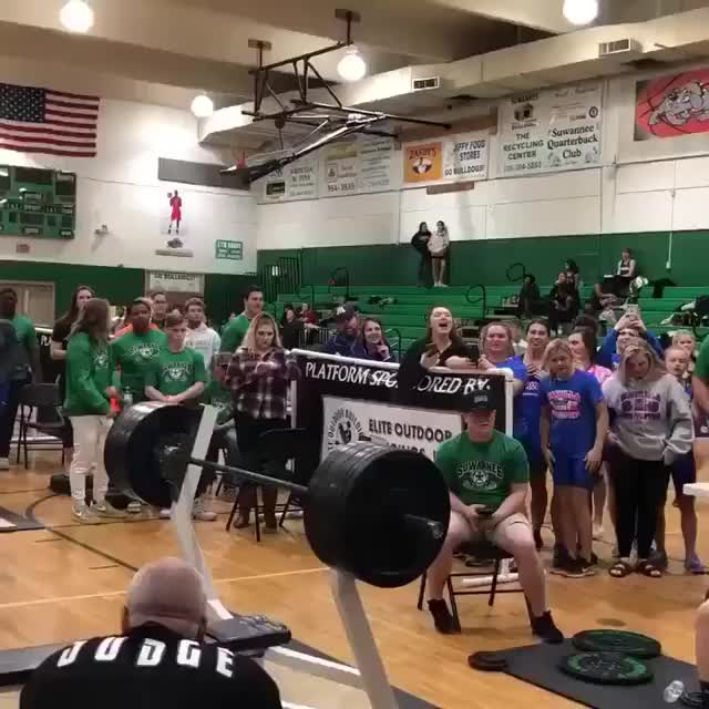 Watch This girl just benched 355. She's also 15. GIF by KSG (@westhampton) on Gfycat. Discover more related GIFs on Gfycat