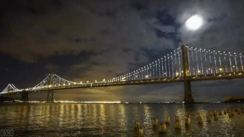 Watch and share GIFs Wallpaper Called San Francisco Bay Bridge GIFs on Gfycat