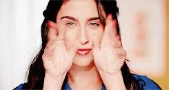 Fifth Harmony, catherine, gifs, lauren jauregui, other, @LaurenJauregui: Ok wait..I haven't waxed my eyebrows in abo GIFs