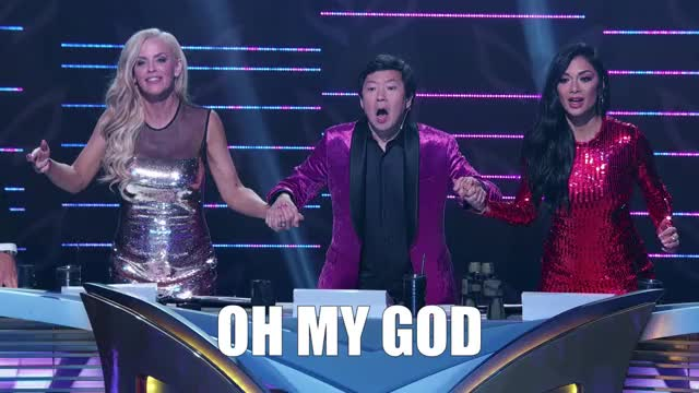 Watch this masked singer GIF by The Masked Singer on FOX (@maskedsinger) on Gfycat. Discover more ahhh, crazy, excited, jenny mccarthy, ken jeong, masked singer, mind blown, nicole scherzinger, oh my god, oh my gosh, omg, shocked, surprise, the masked singer, the masked singer on fox, wow GIFs on Gfycat