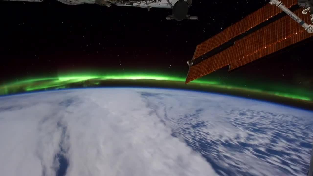SpaceGfys, spacegfys, Aurora viewed from ISS GIFs