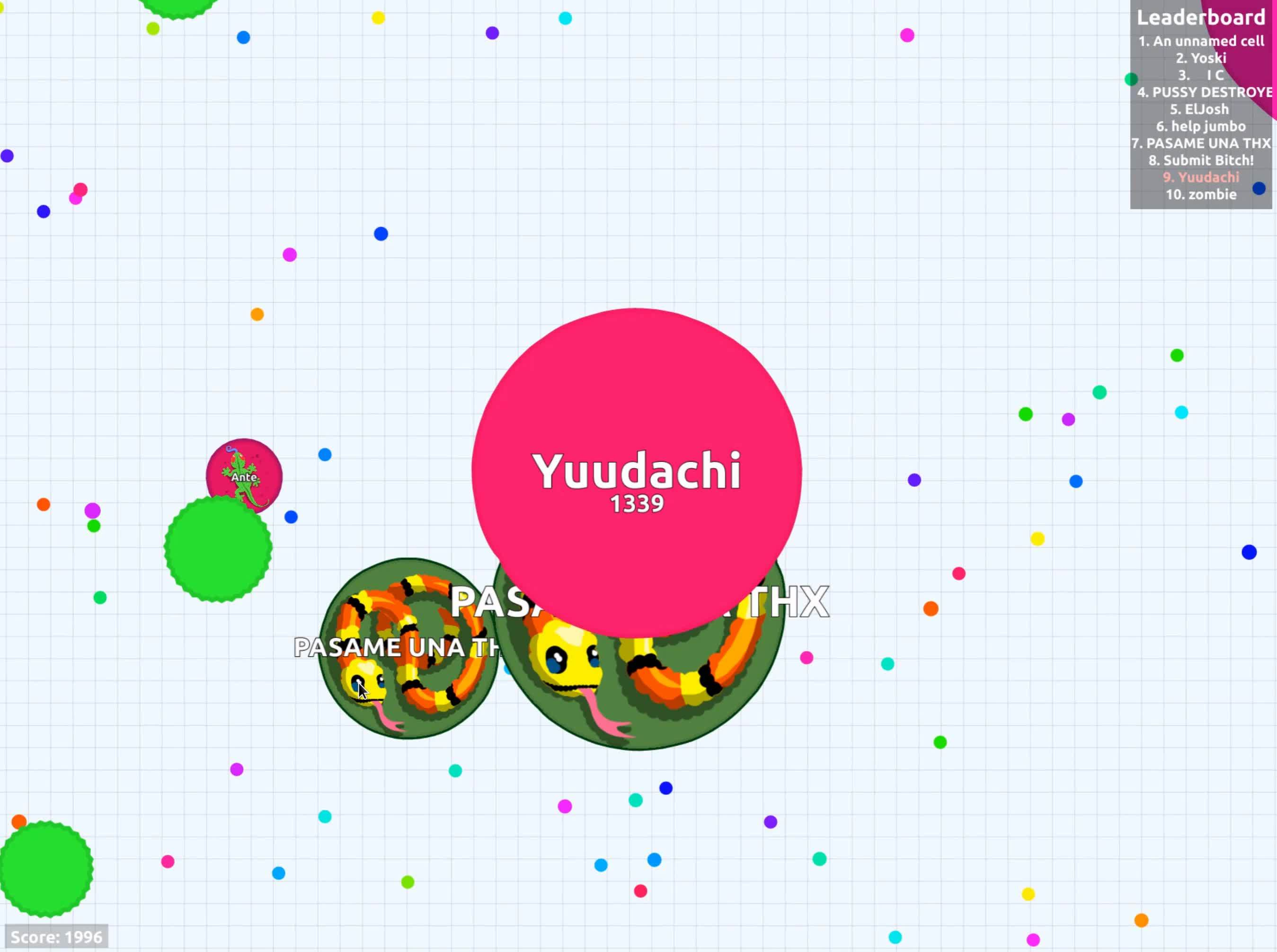 agario, Virusing isn't always a waste of mass GIFs