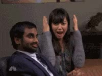 Watch scared, ahh, parks and rec GIF on Gfycat. Discover more aziz ansari GIFs on Gfycat