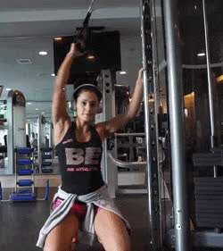 Crossover / Gym / Back Workout.(video) GIFs