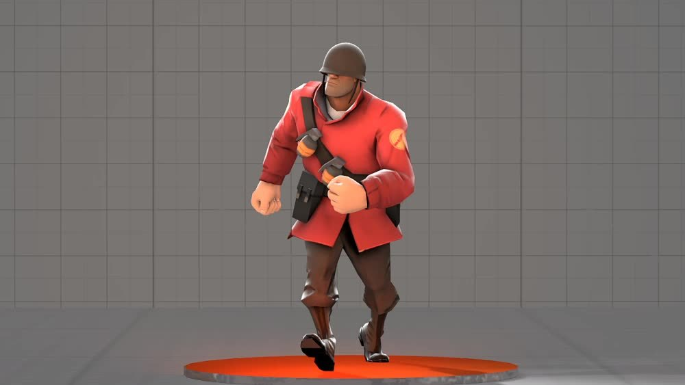 SFM, SwiggitySwootyGifs, tf2, An Angry Walk Cycle I made for the Soldier [SFM] (reddit) GIFs
