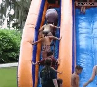 Watch and share Toboggan Fail Fille FAIL GIFs on Gfycat