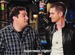 Watch and share Andrew Garfield GIFs and Bobby Moynihan GIFs on Gfycat