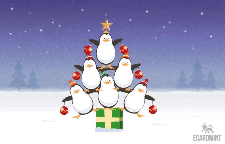 Chirstmas, Christmas Tree, Dancing, Funny, Penguin, Xmas, twerk, Christmas Penguin  GIFs