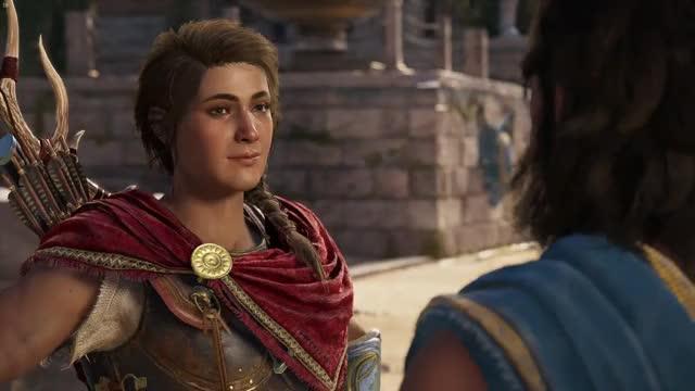 Kassandra ok whatever sure alright OK Kassandra Assassin's Creed Odyssey Assassin's Creed trending GIF