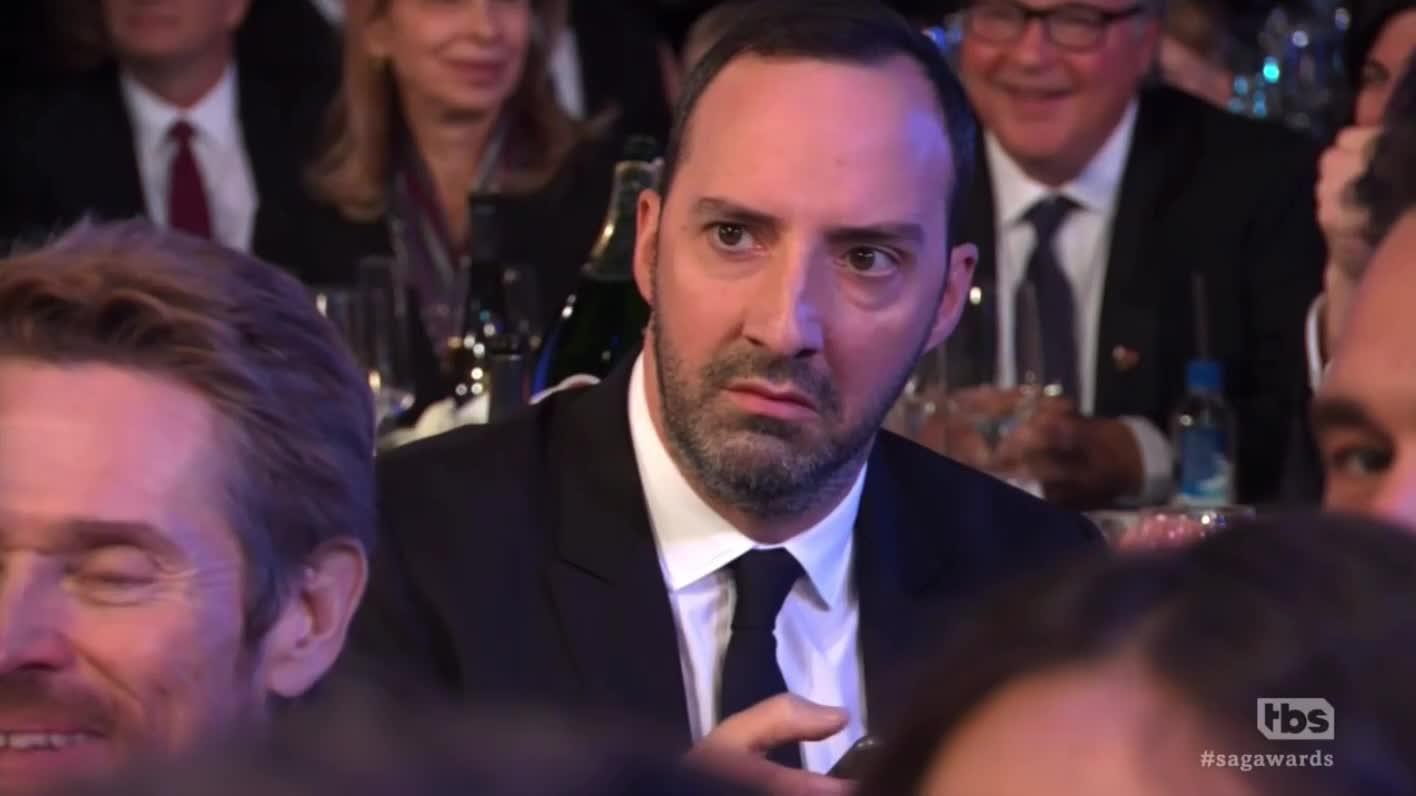 sagawards, tony hale, willem dafoe, Agressive texting SAG Awards GIFs