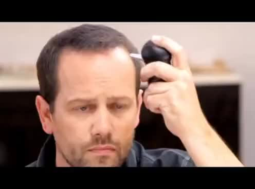 Watch How Men Can Get Thicker Hair with Toppik Hair Building Fibers GIF on Gfycat. Discover more related GIFs on Gfycat