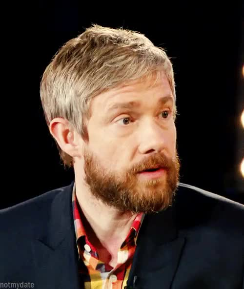 Watch Martin Freeman | Stand up to CancerYes and No.[X]  GIF on Gfycat. Discover more how long has he owned that shirt?, martin freeman, stand up to cancer, yes and no GIFs on Gfycat