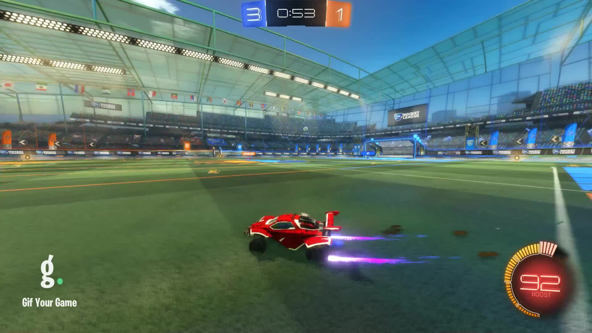 Gif Your Game, GifYourGame, Goal, Rocket League, RocketLeague, teakettle, Goal 5: teakettle GIFs
