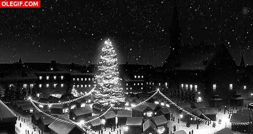 Watch and share GIF: Copos De Nieve Cayendo En Navidad GIFs on Gfycat