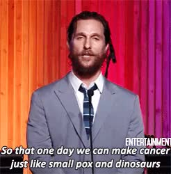Watch and share Matthew Mcconaughey GIFs and Stand Up To Cancer GIFs on Gfycat