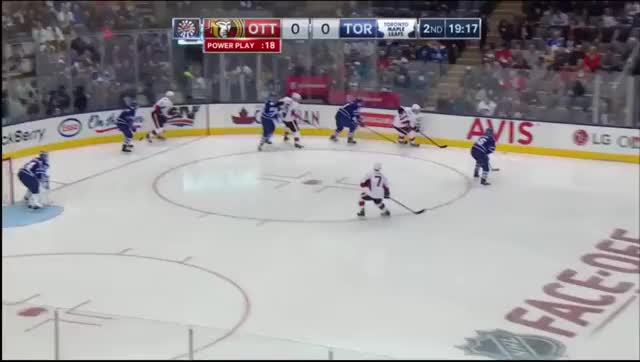 Watch and share Kyle Turris Rips His 3rd Of The Season Bar Down GIFs by skullcrusherxp on Gfycat