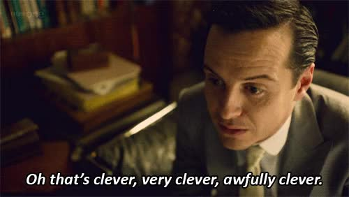 Watch and share Moriarty Clever GIFs on Gfycat