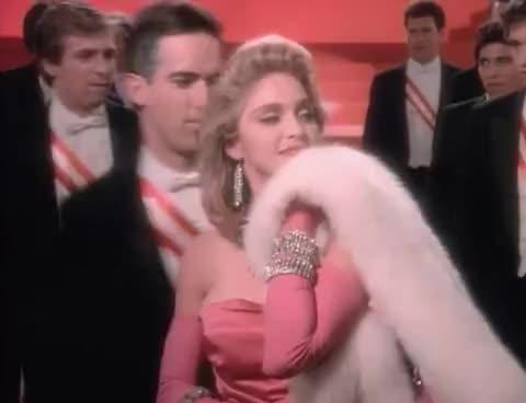 1984, madonna, madonna-pop-1984, pop, Madonna - Material Girl (Official Music Video) GIFs