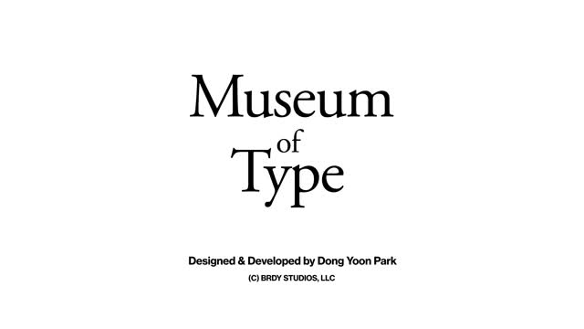 Watch MuseumOfType 20171105 GIF by Dong Yoon Park (@cre8ivepark) on Gfycat. Discover more related GIFs on Gfycat