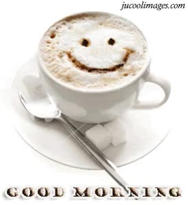 Watch and share Good Morning Smiley On Coffee Graphic GIFs on Gfycat