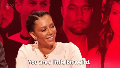 Watch Mel B is baffled by Richard Ayoade. GIF on Gfycat. Discover more kanye west GIFs on Gfycat
