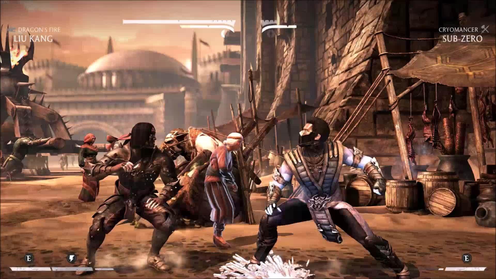 brutality, gaming, mortalkombat, Mortal Kombat X Stage Brutality GIFs
