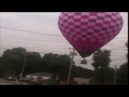 Watch and share VIDEO: Hot Air Balloon Crashes Into Power Lines GIFs on Gfycat