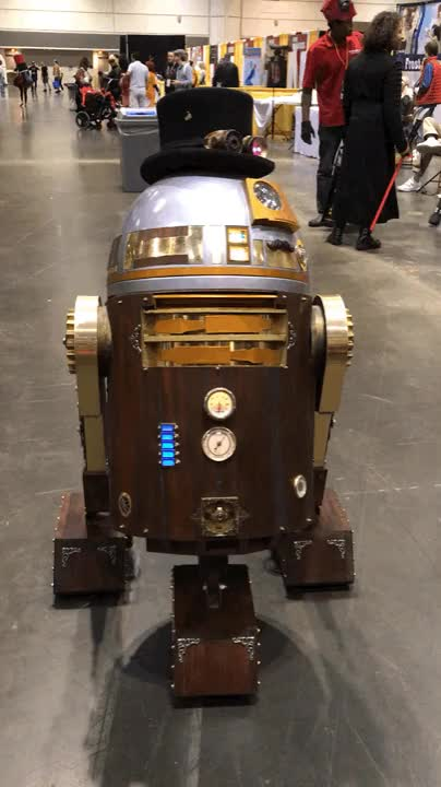 """Watch """"M'driod"""" -Steampunk R2D2 GIF on Gfycat. Discover more related GIFs on Gfycat"""