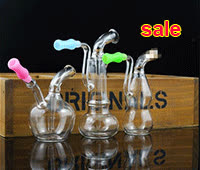 Glass pot pipes - New glass pot of water pipe smoking hookah mini portable glass hookah smoking accessories GIFs